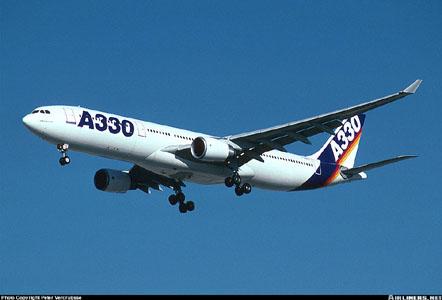 Схема посадочных мест самолета Airbus Industrie A330-300.